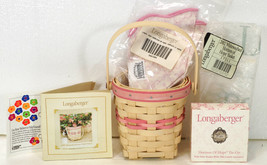 2002 Longaberger Whitewashed HORIZON of HOPE Basket Liner Protector 17311 - $24.99