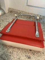STADIUM seat Red & White vintage folding cushion sports bleacher image 3
