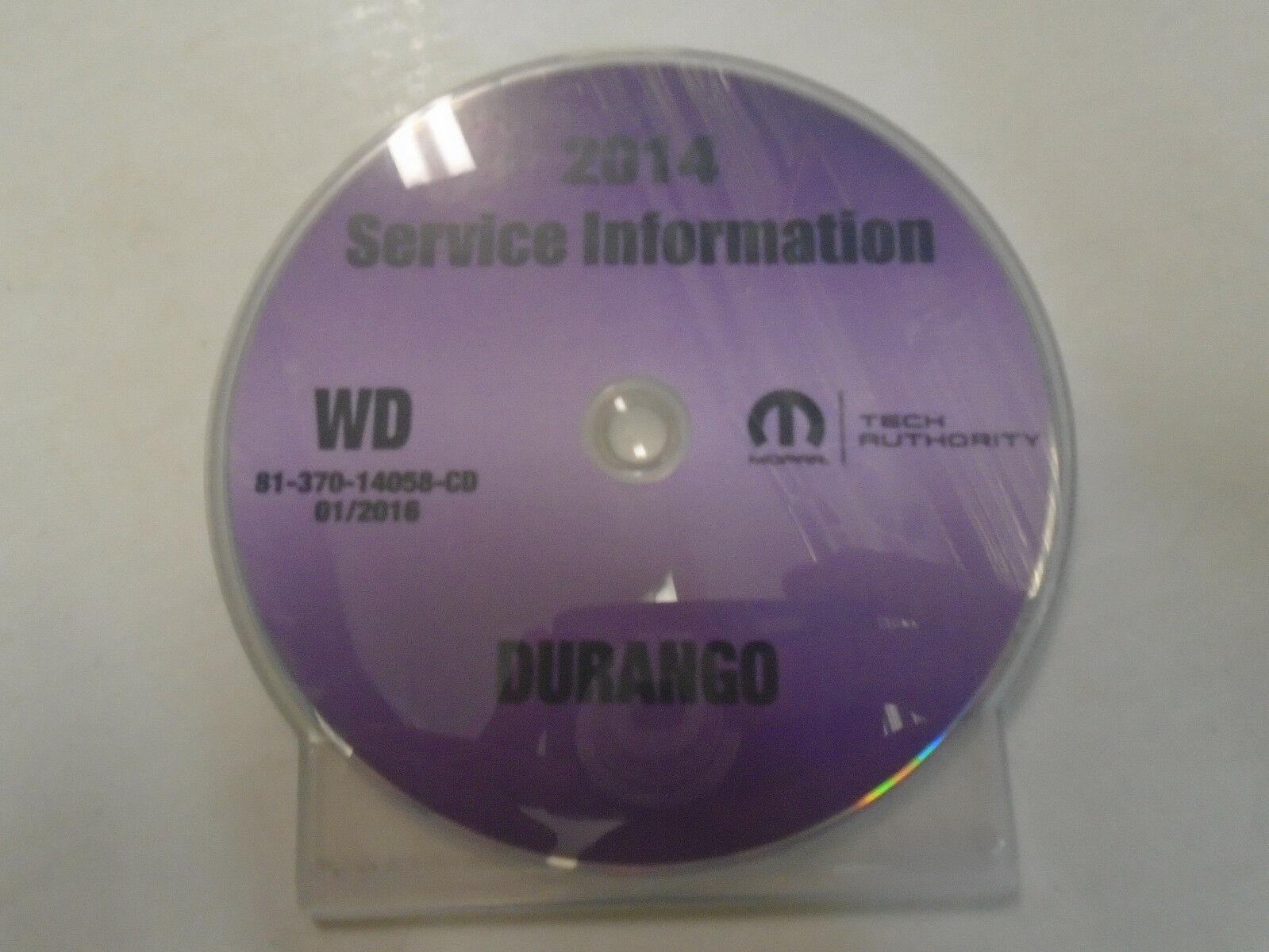 2014 DODGE DURANGO Service INFORMATION Repair Shop Workshop Manual CD NEW