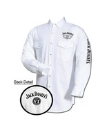 Jack Daniel's Embroidered Long Sleeve Mens Button Down Western Shirt White - $44.99