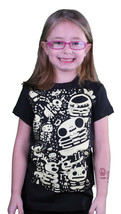 Iron Fist Girls Black Billy Bones Glow in the Dark Youth Little Kids T-Shirt NWT image 1