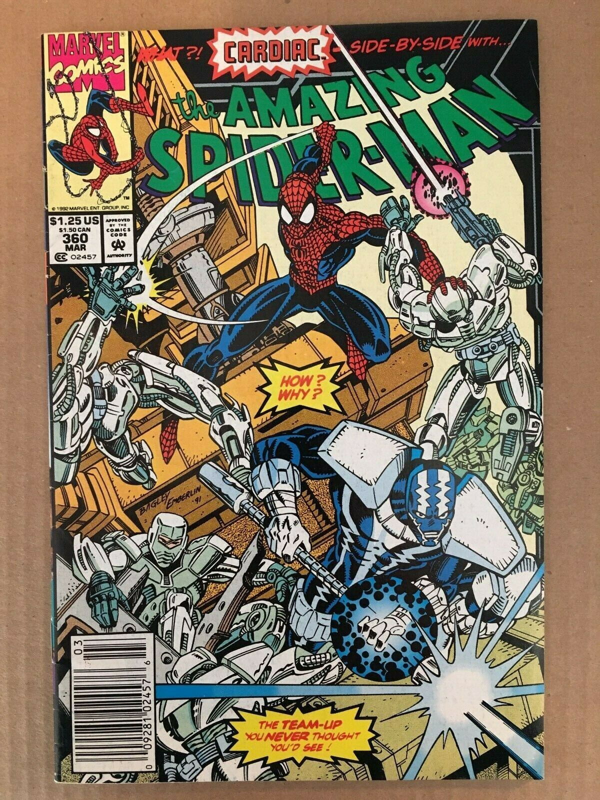 Amazing Spider-Man #360 Marvel Comic Book FN+ Condition 1st Carnage 1992
