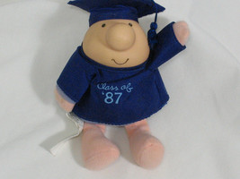 Vintage ZIGGY Doll Plush Toy Class of 87 Graduate 1987 Graduation Collec... - $9.49