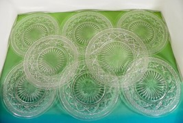 Imperial Glass CAPE COD Clear 1 Luncheon 7 Salad Plate (s) LOT OF 8 - $42.52