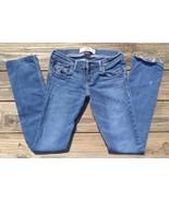 "HOLLISTER Laguna Skinny Mid Wash Blue Jeans Size 1S W25 L 31 ""Socal Stre... - $9.75"