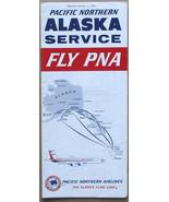 Pacific Northern Alaska Service January 1967 Timetable - $9.99