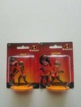 "Disney Pixar The Incredibles ELASTIGIRL and violet  2"" Mini Figures free ship  - $15.95"