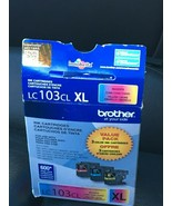 Brother LC103CL XL High Yield Ink Cartridges 3 Pack Cyan Magenta Yellow ... - $24.74