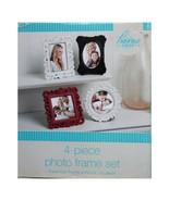HOME ELEMENTS* 4pc Set PHOTO FRAMES White+Black+Red RECTANGLE+CIRCLE+SQU... - $19.79