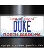 Duke North Carolina City State College Aluminum Vanity License Plate Tag - $12.82