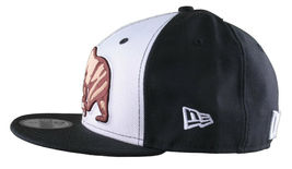 Dissizit California Skating Bear Sk8 Black W New Era 59FIFTY Fitted Baseball Hat image 3