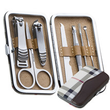 Pedicure / Manicure Set Nail Clippers Cleaner Cuticle Grooming Kit Case ... - $14.99