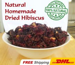 Natural Hibiscus Herbal Tea Dried Cut Flowers | Homemade | Pure Raw 1 lb - 3 lb - $21.00+
