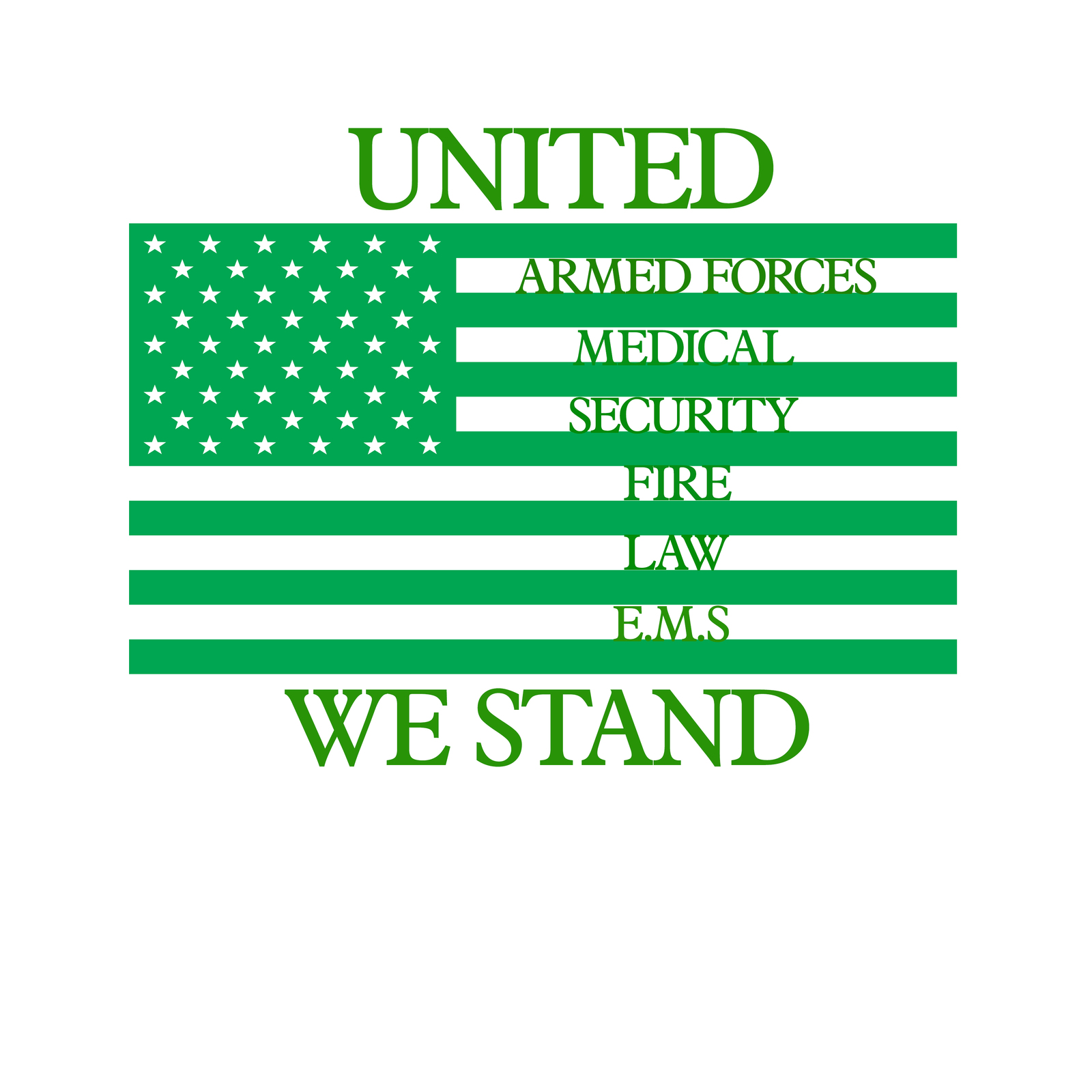 United we stand emergency response teams flag decal awareness sticker