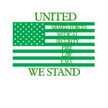 United we stand emergency response teams flag decal awareness sticker - $7.27
