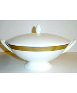Wedgwood Satine Gold Covered Vegetable Bowl With Handles Made in U.K New - $98.90
