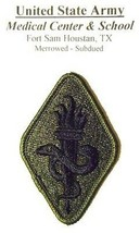 U.S. ARMY MEDICAL CENTER & SCHOOL PATCH ( SUBDUED ) FORT SAM TEXAS LOT 171 - $5.87
