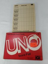 Vintage 1978 UNO Card Game Double Score Pad (bt) - $11.19