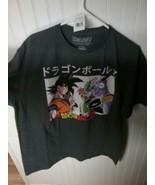 Men's XL (46-48) Dragon Ball Z Goku Anime T-Shirt Gray Short Sleeves NEW - $10.00