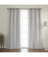 Decor Innovation Sheer Overlay Grommet Top Blackout Window Curtain Panel... - $119.78