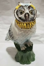 Vtg. Italian Owl Figurine -Signed/Numbered- Hand Painted Red Clay High G... - $22.77