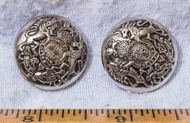 Vintage Menge Von 2 Crest Shield Knöpfe Mv - $25.23