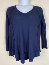 Torrid Womens Plus Size 2 (2X) Navy Blue Waffle Knit Shirt Long Sleeve V... - $22.50