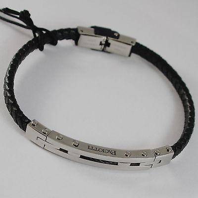 MEN'S BRACELET STEEL AND SKIN SEMI-RIGID CESARE PACIOTTI 4US 4UBR1531