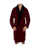 Regency Men's New York Coral Warm Robe 100% Plush Coral Fleece - Choose ... - $35.74+