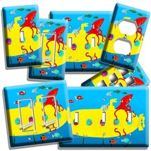 Fish Octopus Yellow Submarine Light Switch Outlet Wall Plate Kids Bathroom Decor - $9.99+