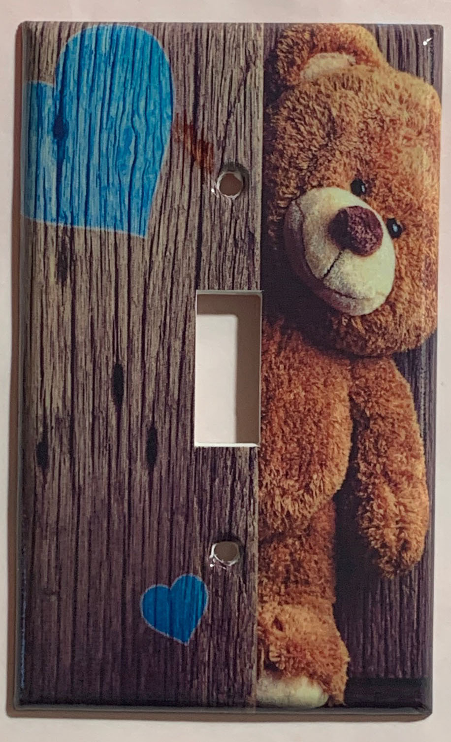 Teddy Bear Brown Light Switch Power Outlet Phone wall Cover Plate Home Decor
