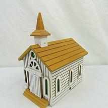 Vintage Music Box Church Amazing Grace Animated VIDEO Chinese Craftsmen ... - $29.69