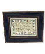 Framed Print Country Beth Yarbrough Poem Summer Garden Birds Wood Art Wa... - $19.79