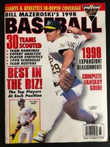 BILL MAZERSKI'S 1998 BASEBALL Fantasy Guide Magazine Preview Sports Publ... - $7.91