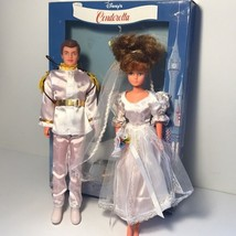 VINTAGE WALT DISNEY CINDERELLA WEDDING PRINCE DOLLS FIGURES ORIGINAL BOX... - $123.75