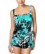 Swim Solutions Einteiler Gr. UK 8 Blaugrün, Blau Barcelona Bandeau - $49.44