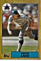 1987 Topps Baseball Card, #572, Pete Ladd, Seattle Mariners - $0.99