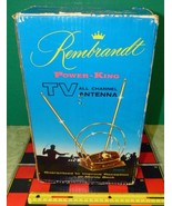 Vintage Rembrandt Power King Indoor TV All Channel Antenna EMPTY BOX Only  - $19.80