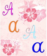 A Color Letters-Digital Clipart-Art Clip-Text-Font Words-Gift Tag-Jewelr... - $4.99