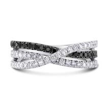 0.48Cts Black Diamond  Ring Set in 18K  White Gold - $1,811.69