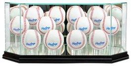Perfect Cases MLB Octagon 12 Baseball Glass Display Case, Black - $95.95