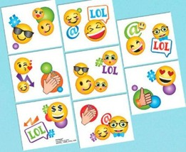 Emoji LOL Birthday Party 16 Tattoos Favors - $4.17