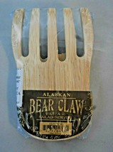 Wooden Alaskan Bear Claw shaped Pasta & Salad Server Souvenir NIP! 6 inc... - $8.90