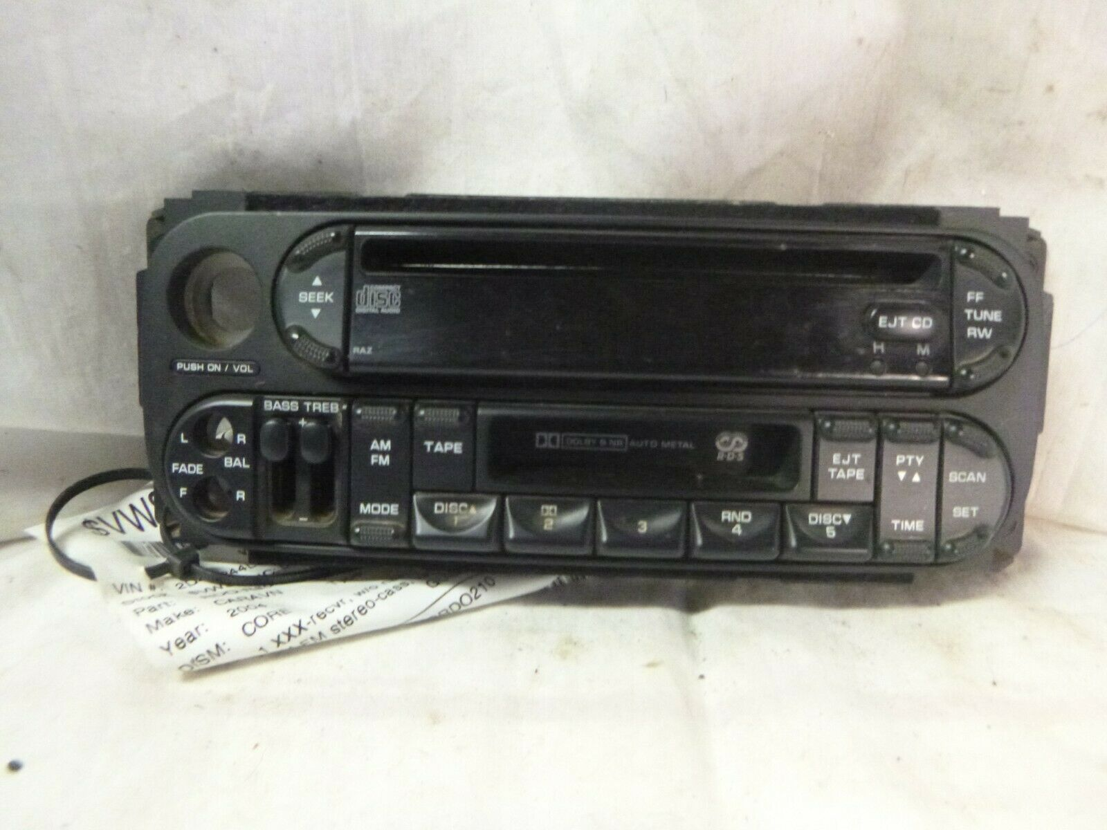 02 03 04 05 06 07 Dodge Chrysler Jeep Radio Cd Cassette Face Plate P05064300AD
