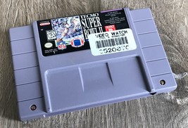 Tecmo Super Bowl II Special Edition SNES Game Cartridge Video Watch Stor... - $71.24