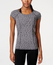 Calvin Klein Performance Space-Dyed Top Black Multi Size Medium - $19.76