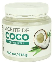 100 % Pure Virgen Coconut Oil 450 Mls Cooking Baking Spices of the World - $35.99