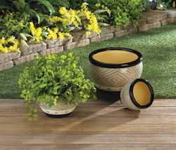 Trimmed Planter Trio Available in Two Colors - $69.95