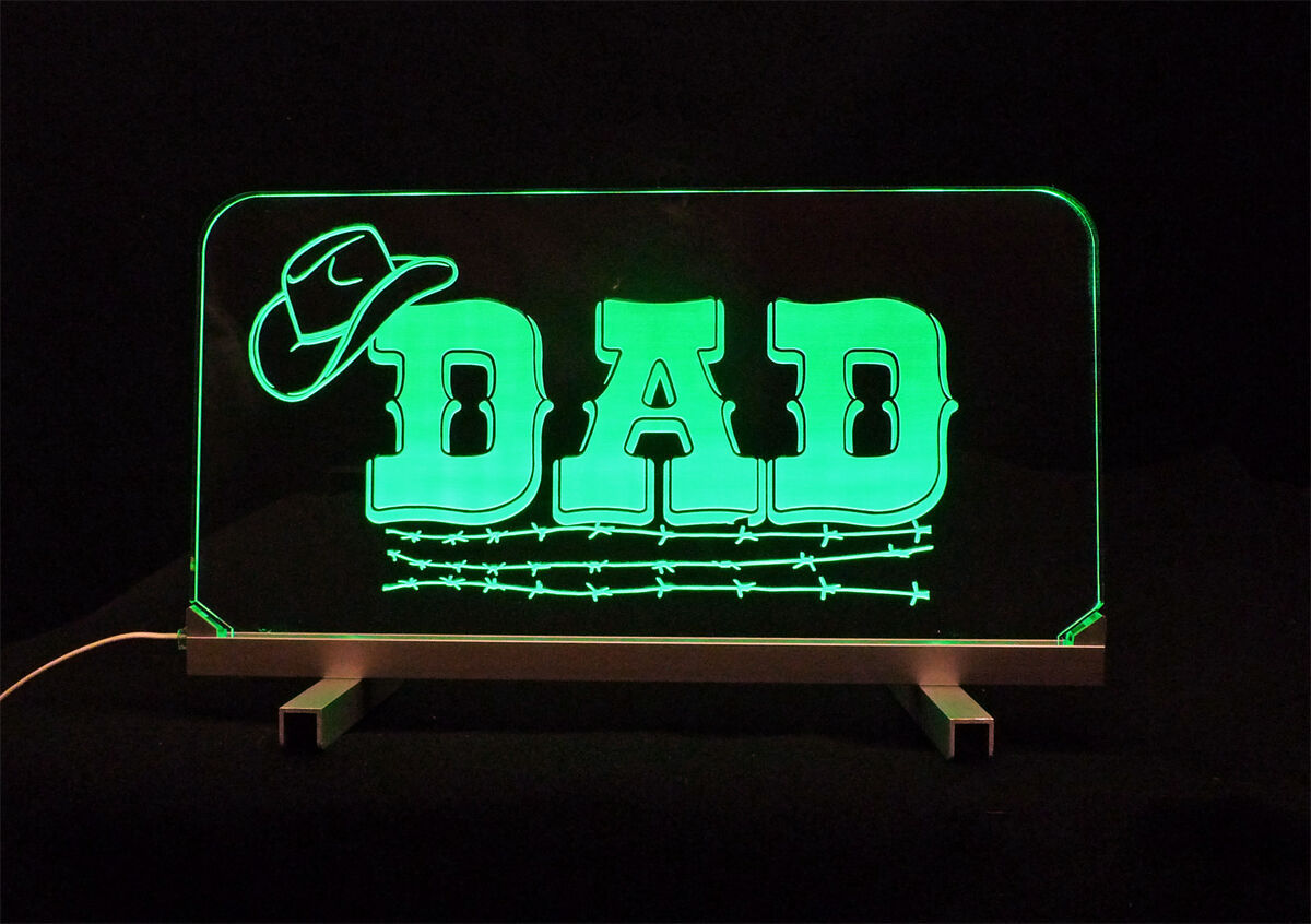 Primary image for Personalized LED  Desk Dad Table Sign - Gift for Dad