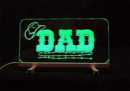 Personalized LED  Desk Dad Table Sign - Gift for Dad - $94.05